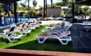 lounging by the pool4: sunloungers near the pool