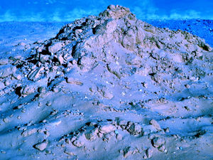 alien mountain landscape1: abstract rough mountain landscape with a changing difference