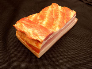 pork belly - speck7: slab of smoked pork belly