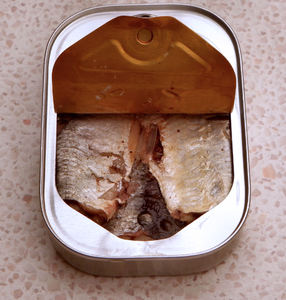 in the can3: tightly packed sardines in tin