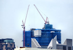 architectural shapes & colors2: distinctive architecture styles, cranes, construction and coloring
