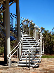 park lookout tower6: high spiralling steel park DNA lookout tower - Perth