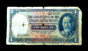 historic Singapore currency1: pre-WWII Straits Settlements/Singapore dollar banknote/currency