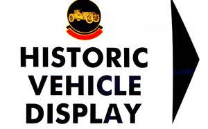 display direction1: vintage vehicles display sign