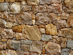 rock wall5: free standing dry stone wall