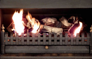 winter warmth1: flames and fire from open woodfire