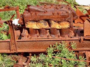 vehicle rust1: rusty old discarded farming vehicle