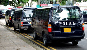 police presence1: Singapore National Day police deployment - police vans