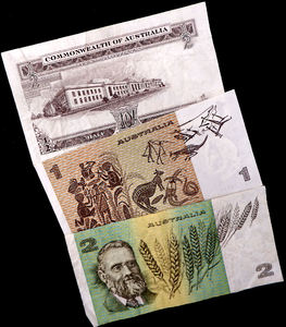 no longer current2: outdated Australian banknotes - including predecimal