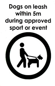 sporting control: keeping dogs under control on leash at sporting events
