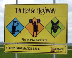 horsing around1: Aussie public farming humour  celebrating horses in roadside paddocks (public domain photography and sharing encouraged)