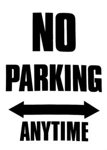 parking prohibition1c: sign warning against parking in this area at any time