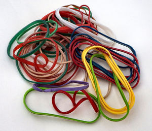 rubber bands2: colourful closed elastic rubber fastening circles