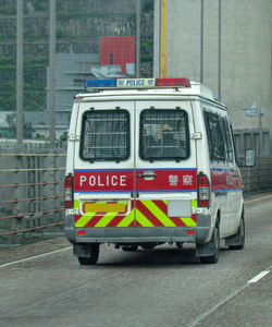 taking the lead1: following behind a police van in Hong Kong