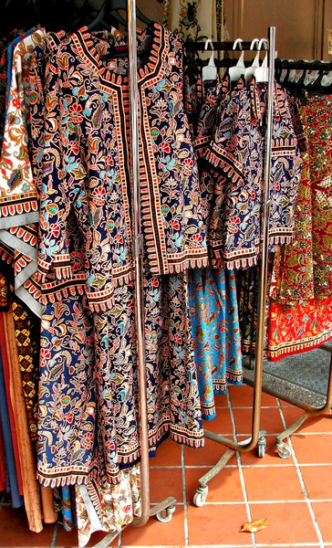 batik fashion: Asian colourful batik style women's clothing for sale