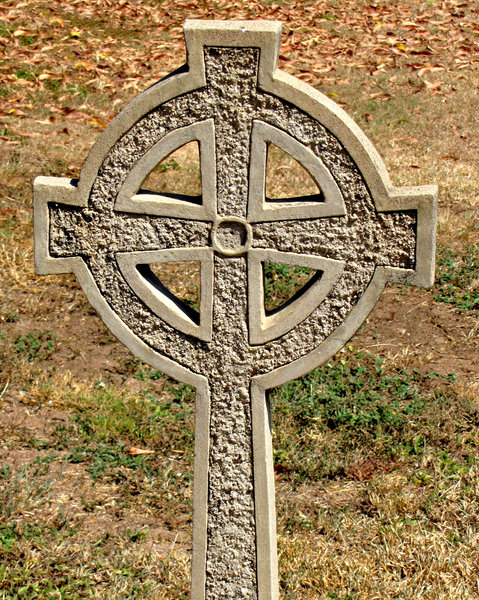 concrete cross: concrete Celtic cross