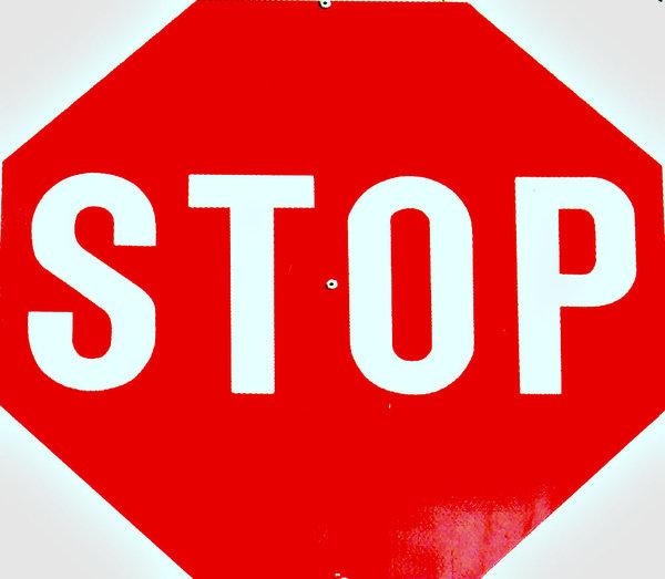 don't start: roadside traffic stop sign