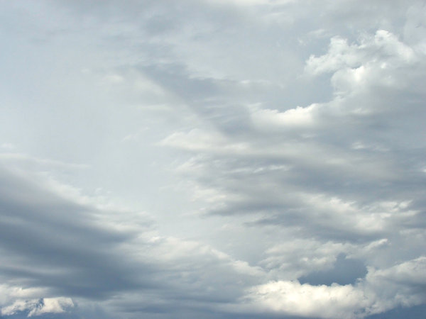 light cloud formation: various cloud formations in blue Southern skies