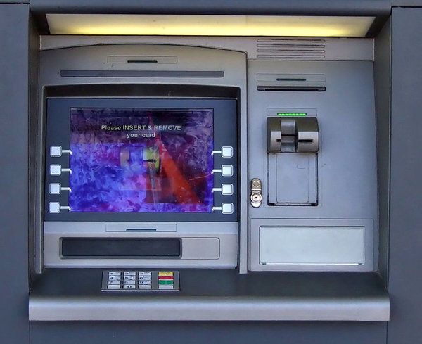 cards for cash: money machines - ATMs - automated teller machine, automatic banking machine