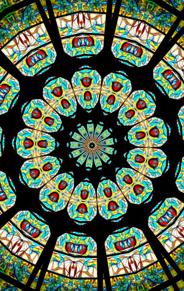 colour window mandala: abstract backgrounds, textures, patterns, kaleidoscopic patterns, circles, shapes and  perspectives from altering and manipulating images