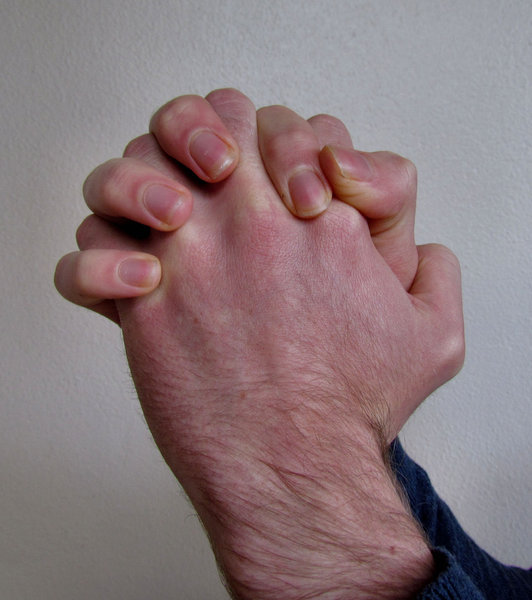 praying hands3: man's hand as in prayer