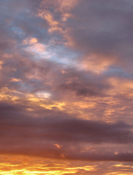 evening sky colour1: Southern sunset  clouds