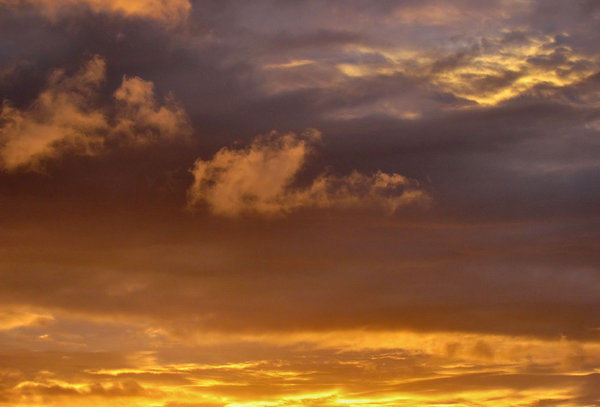 evening sky colour4: Southern sunset  clouds
