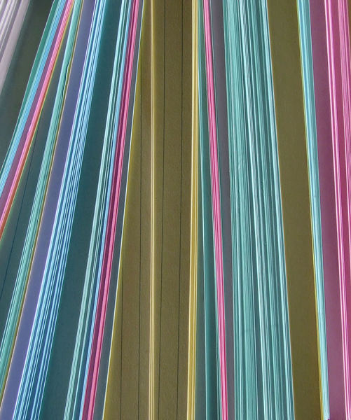 multicoloured cards6: colourful edges of coloured filing record cards