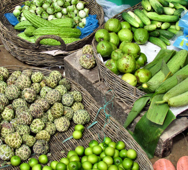 local market6: fruit & vegatables at local Cambodian general market