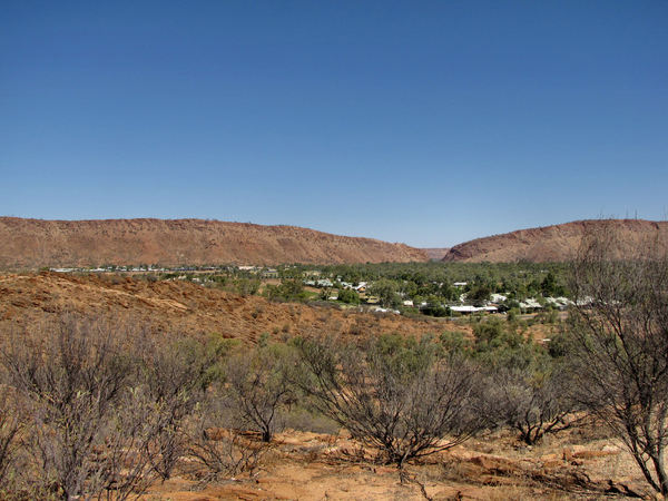 A town like Alice8: looking out over the central Australian township of Alice Springs