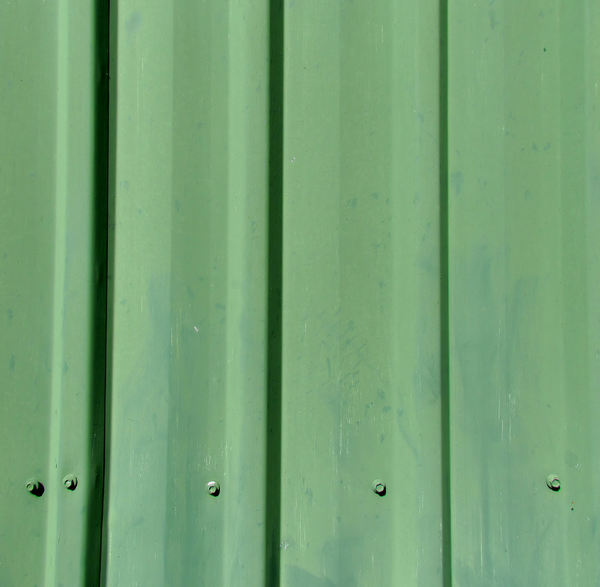 green fence1: green sheet-metal fencing