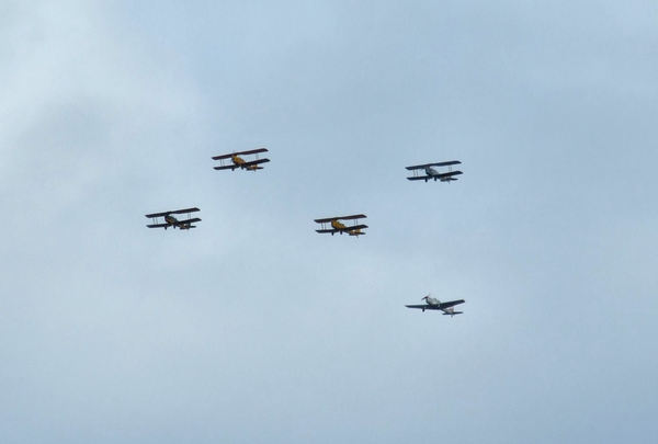 historic fly-over1: historic  planes in fly-over display