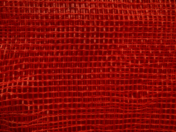 red mesh layers: several layers of woven nylon red mesh