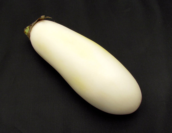 white eggplant1: white eggplant showing slight signs of yellowing