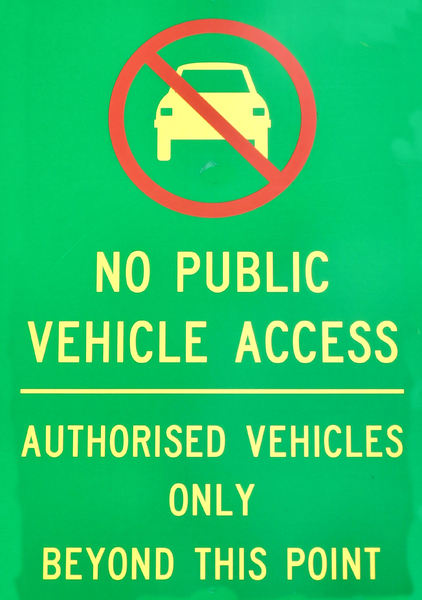 park regulations4: exceptional vehicle access