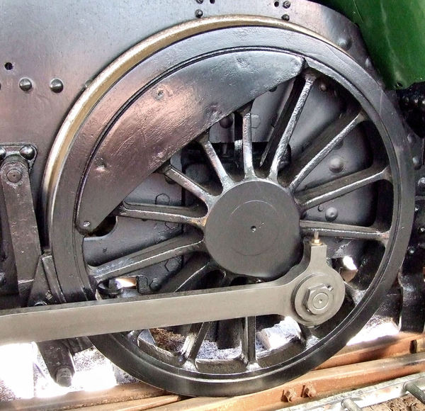historic power wheels1: large and powerful historic steam locomotive wheels