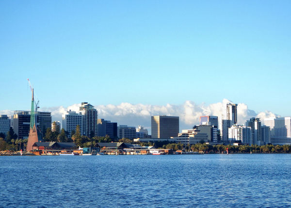 over on the other side8: city of Perth central business district seen from across the  the Swan River