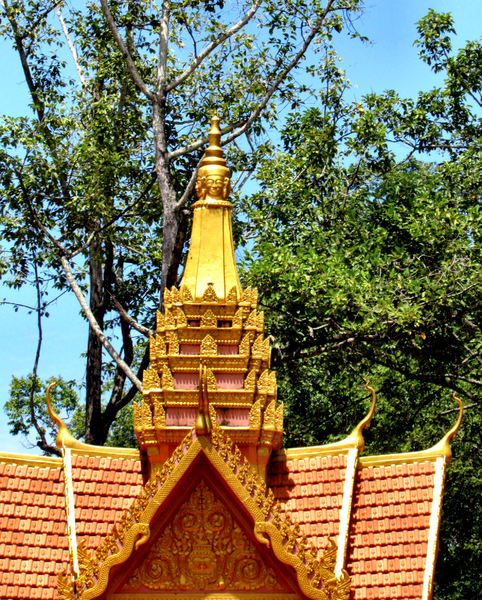 Asian angles2: Cambodian roofing style and decorations