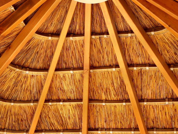 thatched patio roof5: trendy patio roof thatching
