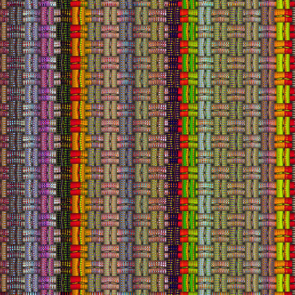 multicolored striped weave3: abstract background, texture, patterns and perspectives