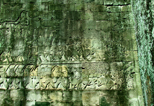 stories in stone10: epic battle stories carved onto walls at Cambodia's Angkor Wat temple complex