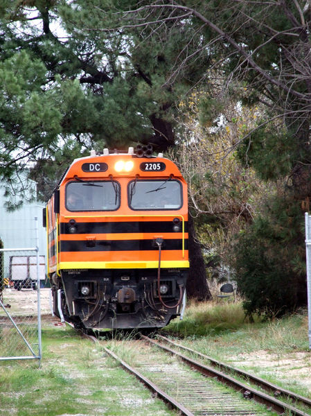 moving diesel power1: diesel locomotive in railway restoration yard
