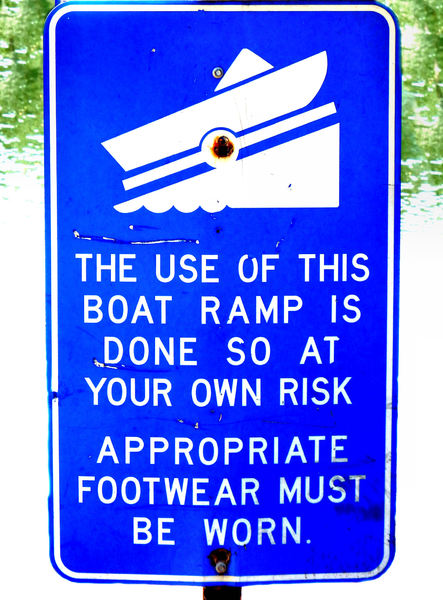 boat ramp risk: riverside boating ramp advice