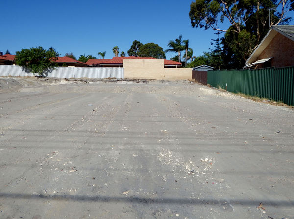 property preparation2: empty property being prepared for building foundations