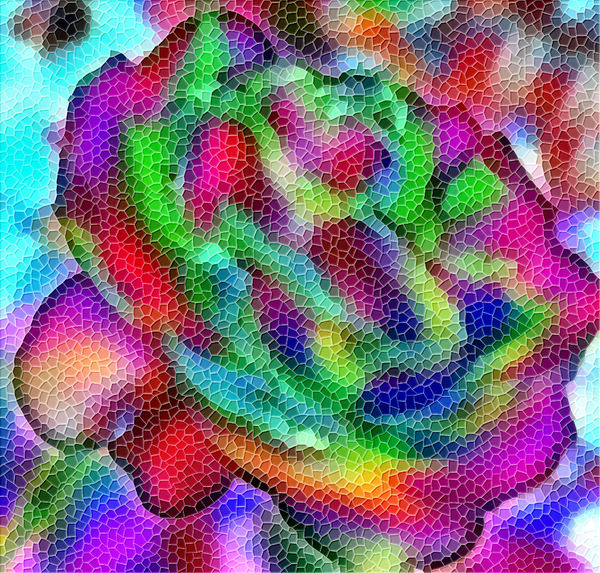 rainbow rose mosaic2: abstract colorful rose mosaic background, texture, pattern and perspectives
