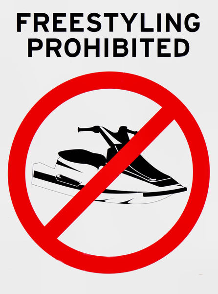 no freestyle: river jet skiing restrictions