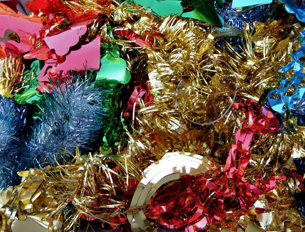 not all that glitters1: Christmas tinsel decorations