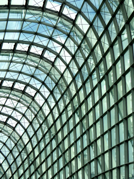 curved ceiling windows10: Singapore's Gardens by the Bay columnless conservatory domes