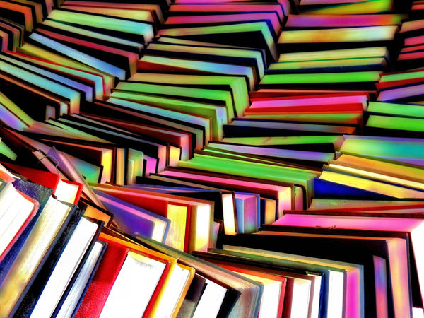 rainbow book colors2: abstract colored book collections