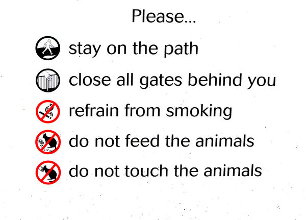visitor guidelines: do the right thing guidelines for animal park visitors
